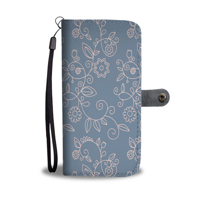 Floral Pattern Wallet Phone Case