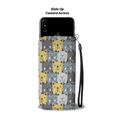 Cats, Cats, & Cats Pattern Wallet Phone Case