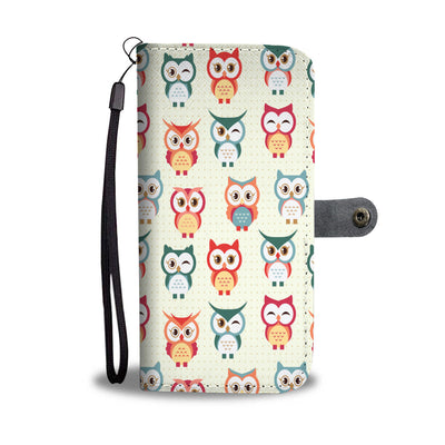Cute Owls Wallet Phone Case