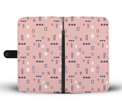 Pink Geo Pattern Wallet Phone Case