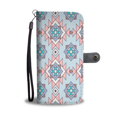 Geometric Pattern Wallet Phone Case