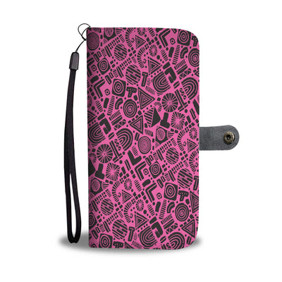 Abstract Pattern Wallet Phone Case