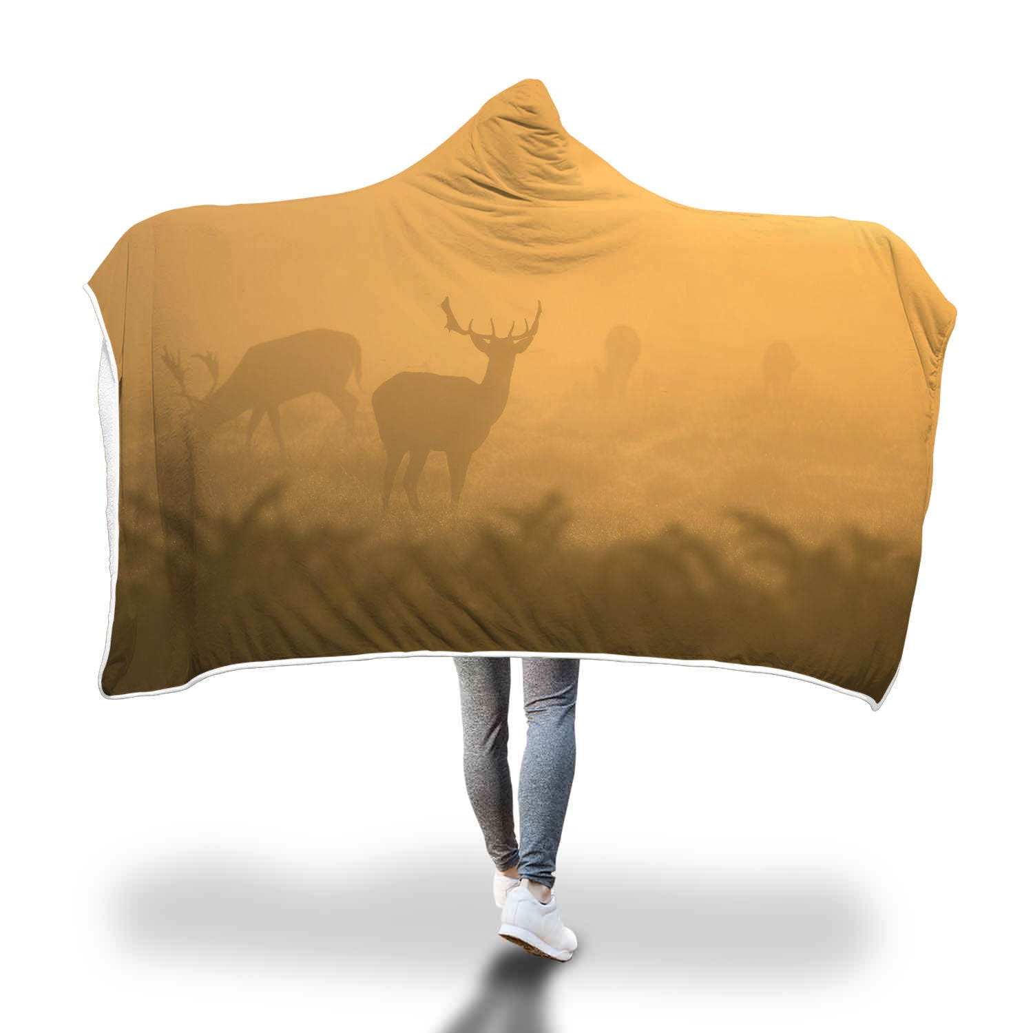Morning Buck Hooded Blanket