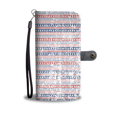 Stars and Stripe Pattern Wallet Phone Case