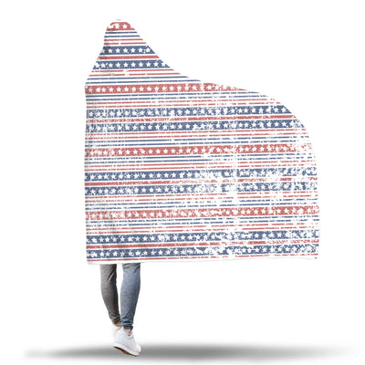 Stars and Stripes Hooded Blanket