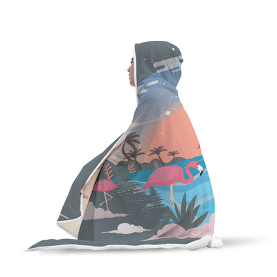 Tropical Hooded Blanket