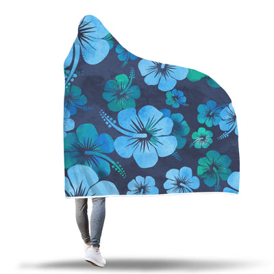 Hibiscus Flower Hooded Blanket