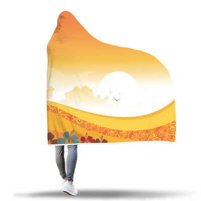 Tropical Sunset Hooded Blanket