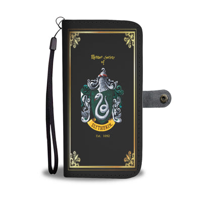 Slytherin Wallet Phone Case (Black)