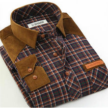 2017 new plaid regular fit fitted shirts men casual slim cotton dress shirts men's long sleeve style male shirt 4XL blouse man