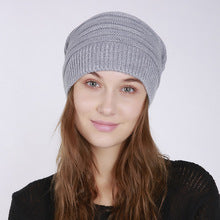 Autumn and winter women's fashion knitting wool outdoor warm comfortable casual bonnet femme hats