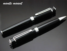 Hot Sale monte mount High Quality Black and Silver Roller ball Pens with Gift Case 0.5 mm Diamond Metal Ballpoint Pens