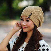 LILIYABAIHE Women Autumn And Winter Hats angora Knitted Skullies Beanies Cap Classic color diamond decoration hats for Girls