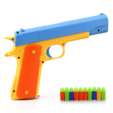Toy Gun Children Toys Semi-automatic Toy Weapon With Soft Bullets Imitation Gun Military Models Funny Plastic Shooters