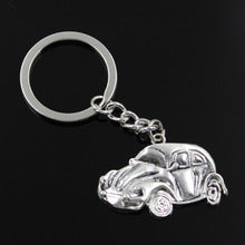 new fashion men 30mm keychain DIY metal holder keychains vintage car bug beetle herbie 39*26mm antique silver pendant