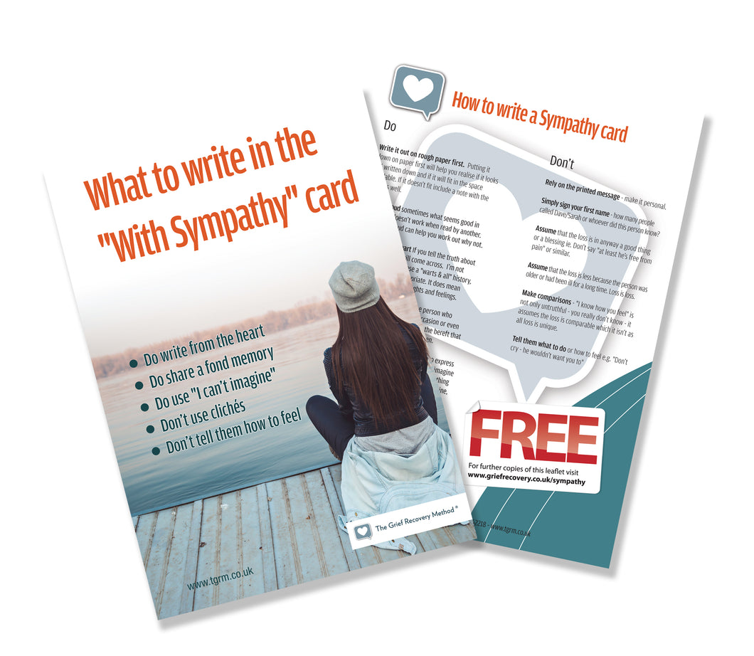 FREE How to write a sympathy card leaflets (postage costs only)
