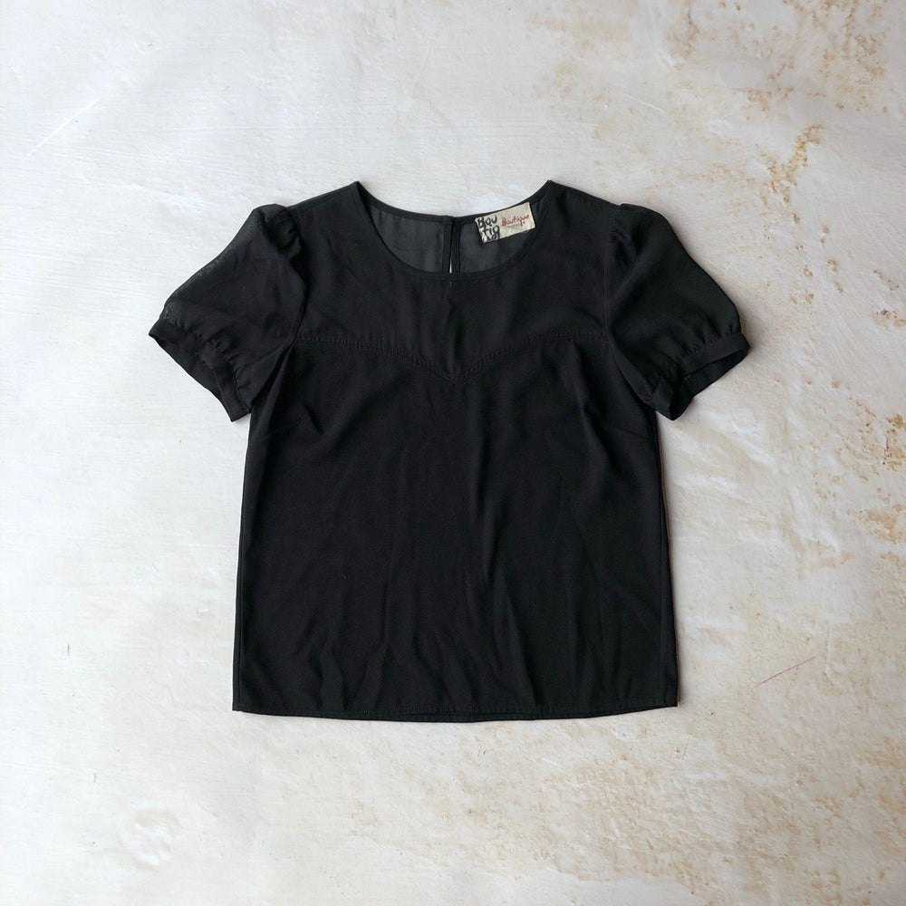 01f6fdd8 Jaeger Boutique puff sleeve sheer panel top