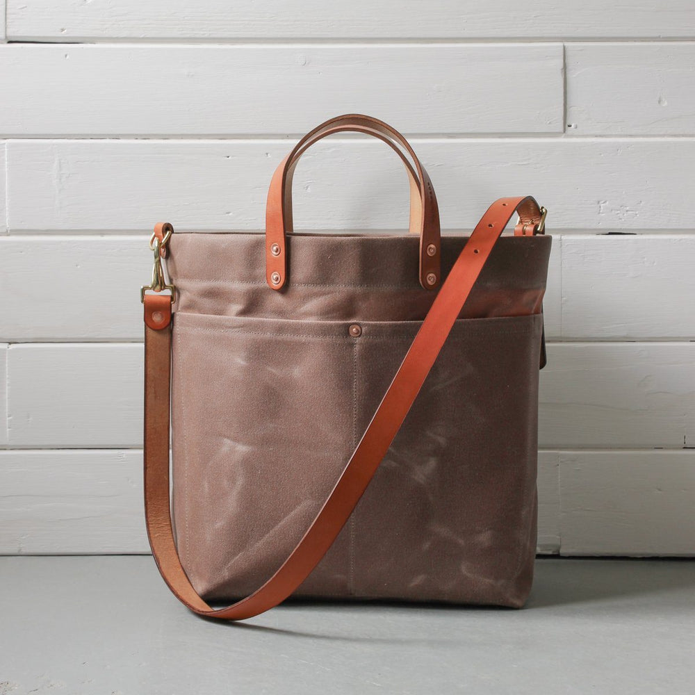 Rural Kind canvas and leather shopper bag at Manifesto Woman