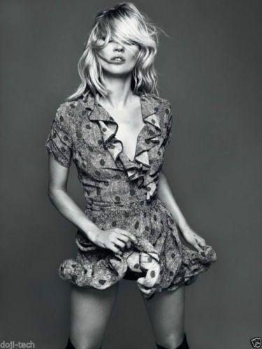 Kate Moss for Topshop snake print red dot spot wrap frill dress