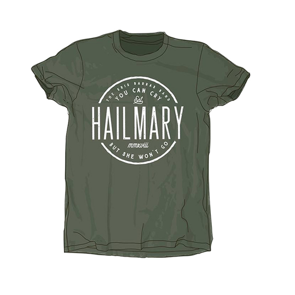 HAIL MARY MILITARY GREEN T-SHIRT