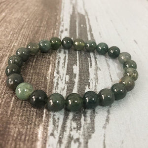 Action Stimulating And Direction Providing Moss Agate Bracelet - Bead Bracelets
