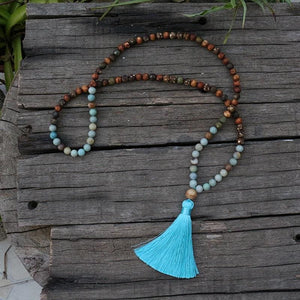 Amazonite & Mix Jaspers Yoga Necklace - Necklace