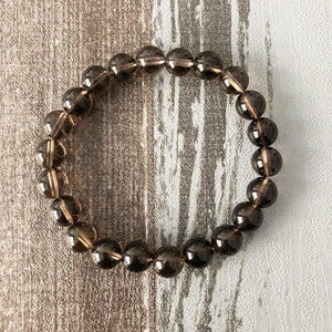 Anchoring And Protecting Smoky Quartz Bracelet - Bead Bracelets