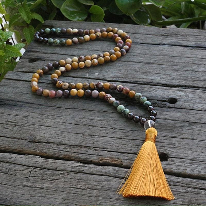 Connecting Wishes Canyon Jasper Garnet Black Hematite And African Turquoise Necklace - Necklace