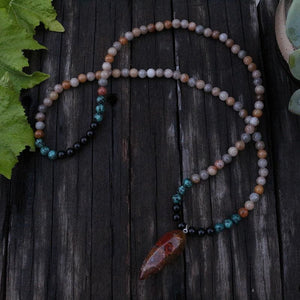 Definitely sophisticated Sunstone & Black Onyx Necklace - Necklace