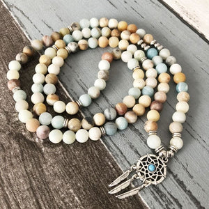Dream Catcher Amazonite Mala Bracelet/Necklace - Malas