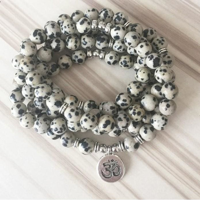 Encouraging Playfulness Dalmatian Mala Necklace/Bracelet - Malas