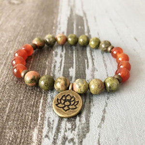 Fertility Stimulating Unakite and Carnelian Bracelet - Bracelets