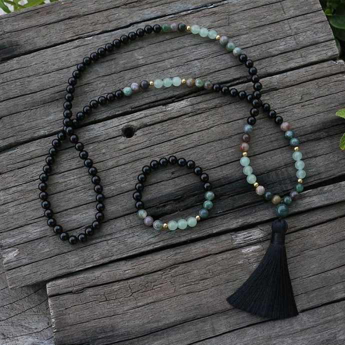 For All The Effort Indian Agate Necklace & Bracelet - Necklace & Bracelet - Necklace & Bracelet
