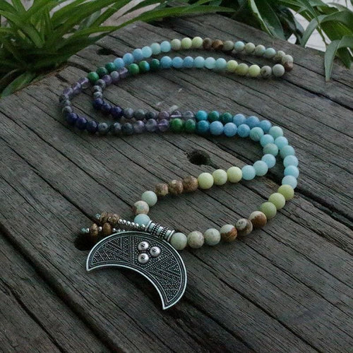 Help Calm Emotional Amazonite & Amethyst Necklace - Necklace