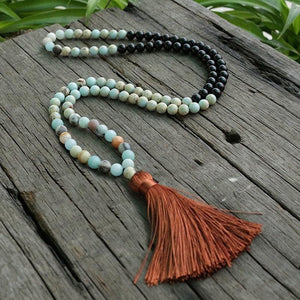 Help Relax Amazonite & Black Tourmaline Necklace - Necklace