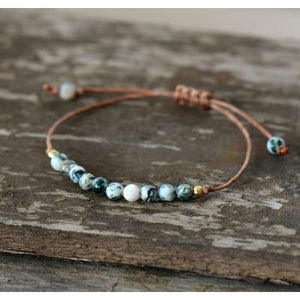 In Your Nature Tree Agate Bracelet - Wrap Bracelet