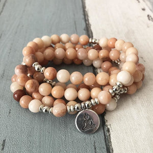 Inward Journey Moonstone Mala Bracelet or Necklace - Malas