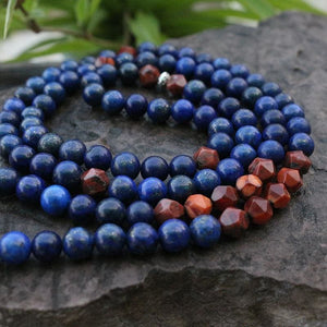 Lapis Lazuli and Red Jasper Necklace - Necklace