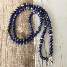 Meditation and Peace Inducing Lapis Lazuli Mala Bracelet/Necklace - Malas
