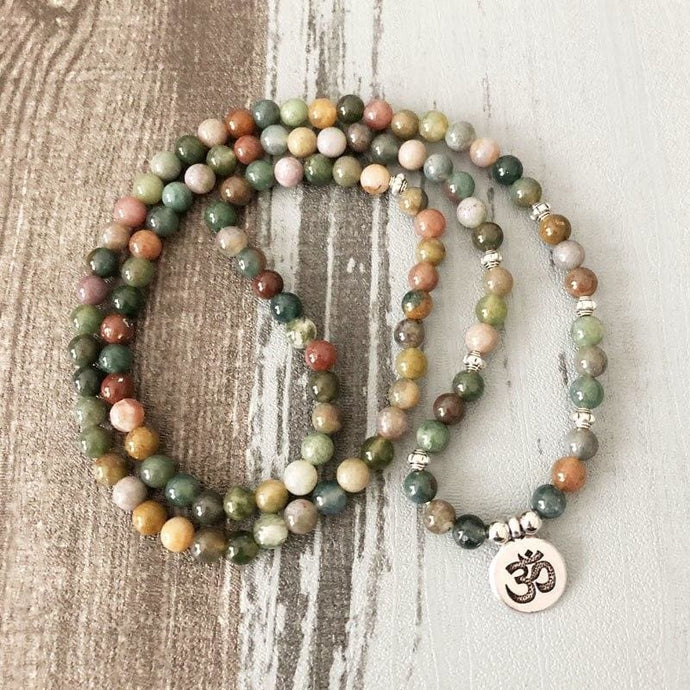 Multi Color Agate Mala Necklace - Malas