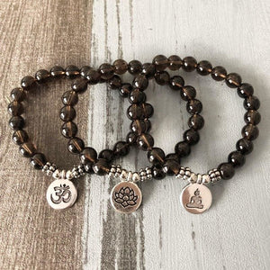 Negativity Absorbing And Grounding Smoky Quartz Bracelet - Bracelets