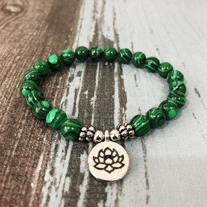 Positive Transformation Inducing Malachite Stone Bracelet - Bracelets