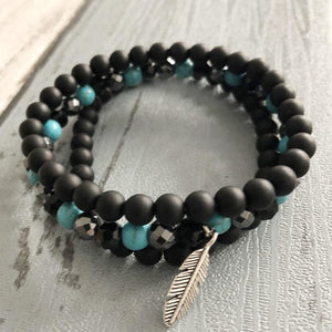 Protecting And Empowering Natural Stone Bracelet Set - Stacked Bracelets