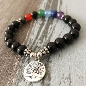 Protecting And Supporting Tree Of Life Chakras Bracelet - Bead Bracelets