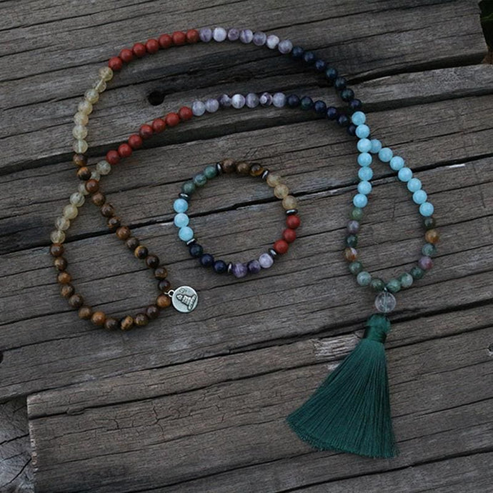 Spiritual 7 Chakras Necklace & Bracelet Set - Necklace & Bracelet - Necklace & Bracelet