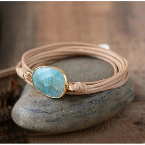 Tends to impress Amazonite Boho Bracelet - Wrap Bracelet
