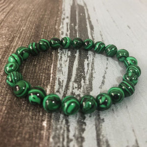 Transforming And Shielding Malachite Stone Bracelet - Bracelets