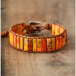 Unforgettable Effect Jasper Wrap Bracelet / 2 Colors - Wrap Bracelet