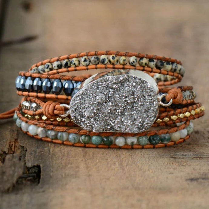 Unique 5 Layers Leather Wrap Bracelet - Bracelets