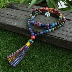 Your Daring Best Mixing Agate Stone Beads Necklace - Necklace
